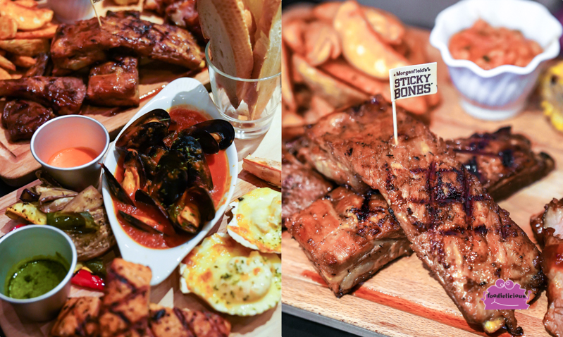 Morganfield's Whiskey-infused Meat Platter & Seafood Combo